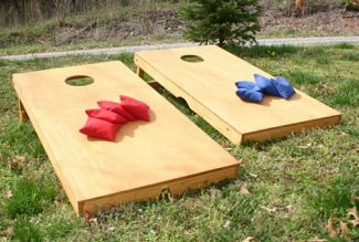 Corn Hole Game Set Up