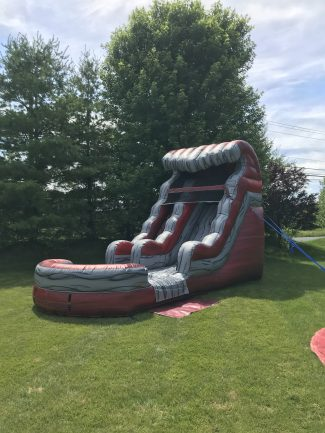15' Liquid Hot Magma Water Slide